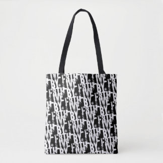 ENDURE LIVE BY F8TH NOT BY SIGHT TOTE BAG