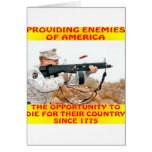 Enemies Of America Die For Their Country 1775 Greeting Card