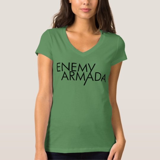 Enemy Armada Fitted Black Logo Womens T-Shirt