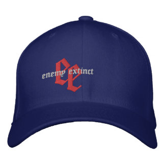 enemy extinct red white and blue emb hat embroidered cap