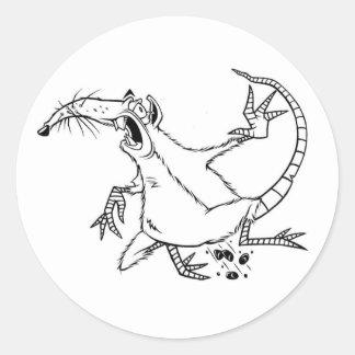 enemy rat classic round sticker