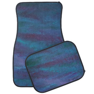 Energetic Auto | Ombre Blue Purple Teal Turquoise Car Mat