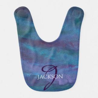 Energetic Baby   Custom Blue Purple Teal Ombre Bib
