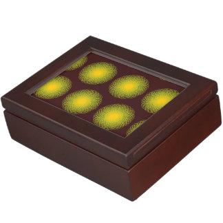 Energetic Bends Patterns red Keepsake Boxes
