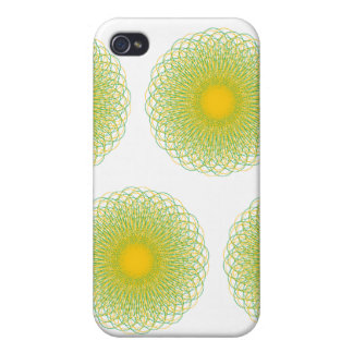 Energetic Bends Patterns white iPhone 4 Case