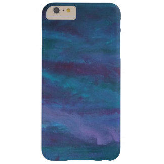 Energetic - Blue Purple Teal Storm Rain Abstract Barely There iPhone 6 Plus Case