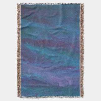 Energetic Decor | Dark Blue Purple Teal Turquoise Throw Blanket