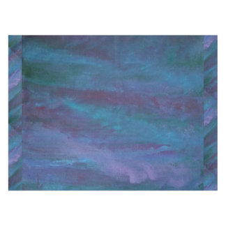 Energetic Dining | Dark Blue Purple Teal Turquoise Tablecloth