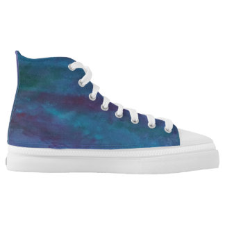 Energetic Fashion | Blue Purple Turquoise Ombre High Tops
