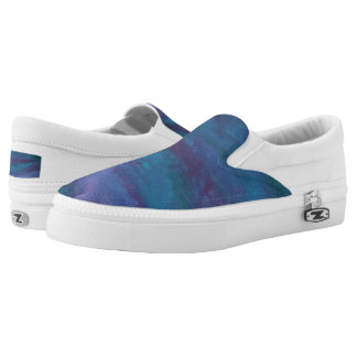 Energetic Fashion | Blue Purple Turquoise Ombre Slip-On Shoes