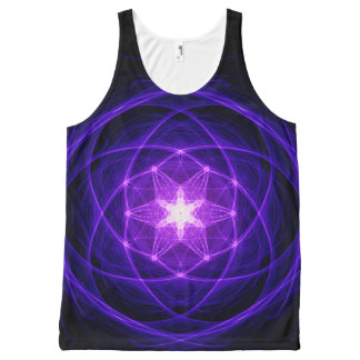 Energetic Geometry - Indigo Prayers All-Over Print Tank Top