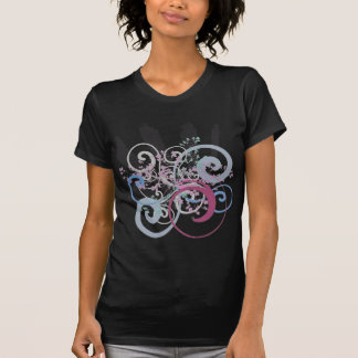 Energetic Swirls with Plants T Shirts
