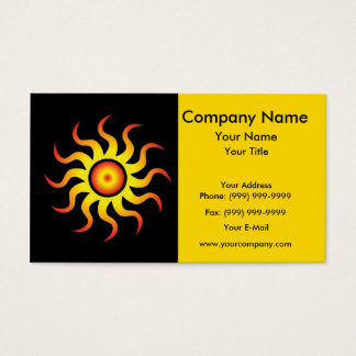Energetic tribal sun business card