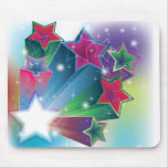 Energising colourful stars mouse mat