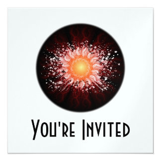 Energy Ball Line Art - Original Colors 13 Cm X 13 Cm Square Invitation Card