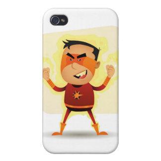 Energy Boy - Cartoon Superhero Superpower iPhone 4 Cover