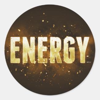 Energy Classic Round Sticker