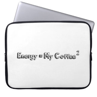 energy coffee relativity theory formula funny text laptop sleeve