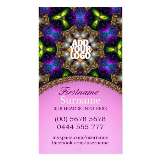 Energy Colours Healing New Age Business Card