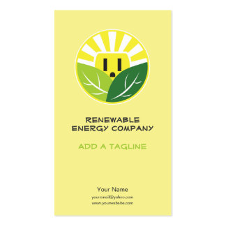 Energy Company Business Cards