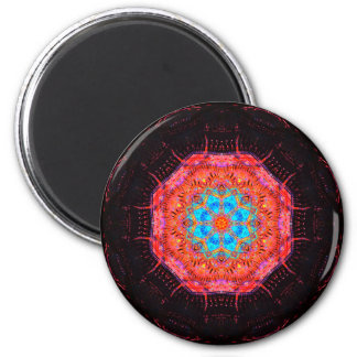 Energy Computer Chip Mandala 6 Cm Round Magnet