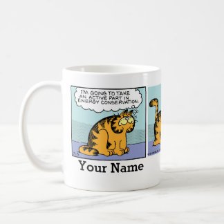 """Energy Conservation"" Garfield Comic Strip Coffee Mug"