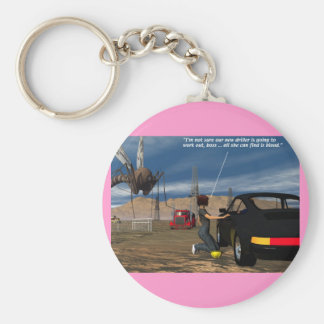 Energy - Driller - Basic Round Button Key Ring