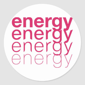 Energy Fade Pink Classic Round Sticker