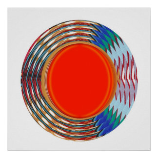 Energy Filled Sparkle :  Waves Circles Colorful Poster