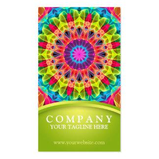 Energy Flower Mandala - green Pack Of Standard Business Cards