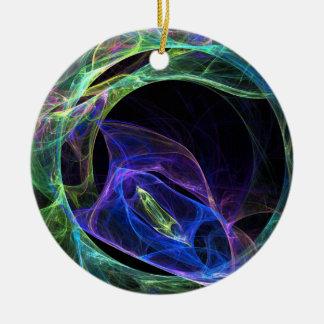 Energy Fractal Christmas Ornament