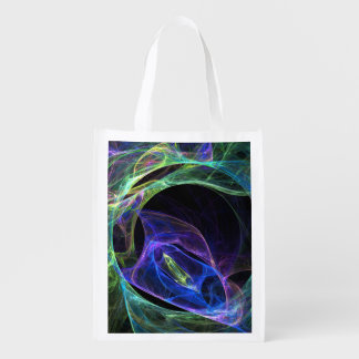 Energy Fractal Reusable Grocery Bag