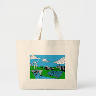 Energy Generation Sources Large Tote Bag