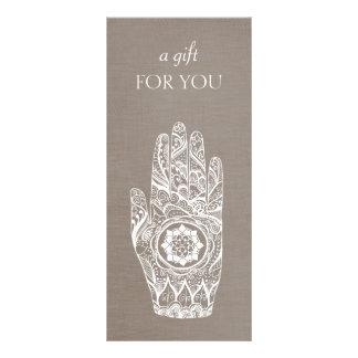 Energy Healer Henna Lotus  Gift Certificate Personalised Rack Card