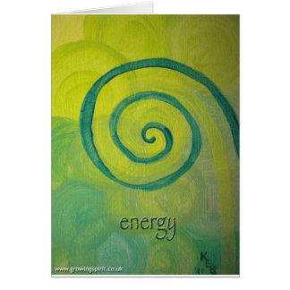 Energy Heart Art Card