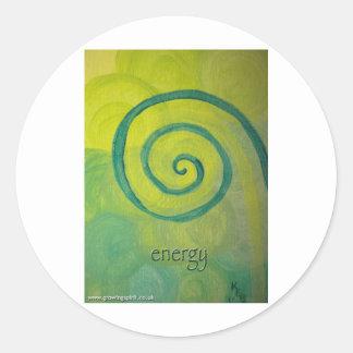 Energy Heart Art Classic Round Sticker