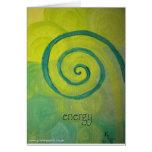 Energy Heart Art Greeting Card