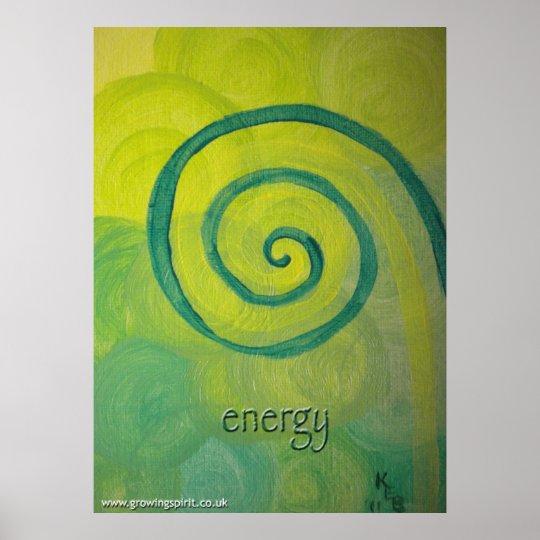 """energy"" Heart Art Painting Poster"