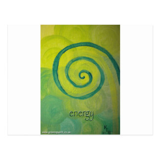 Energy Heart Art Postcard