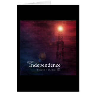 Energy Independence Greeting Card