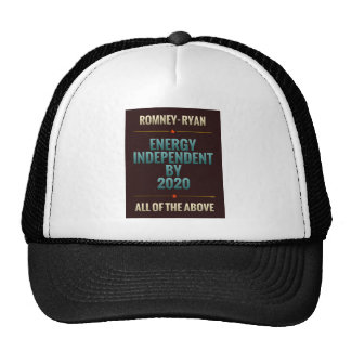 Energy Independent By 2020 Mesh Hats