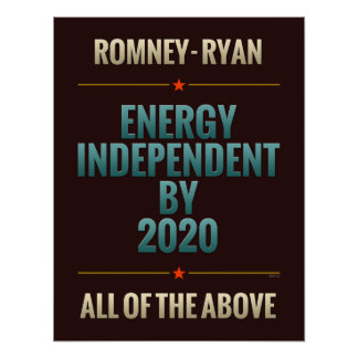 Energy Independent By 2020 Posters