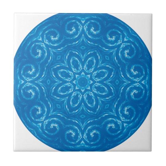 Energy Mandala - Blue Small Square Tile