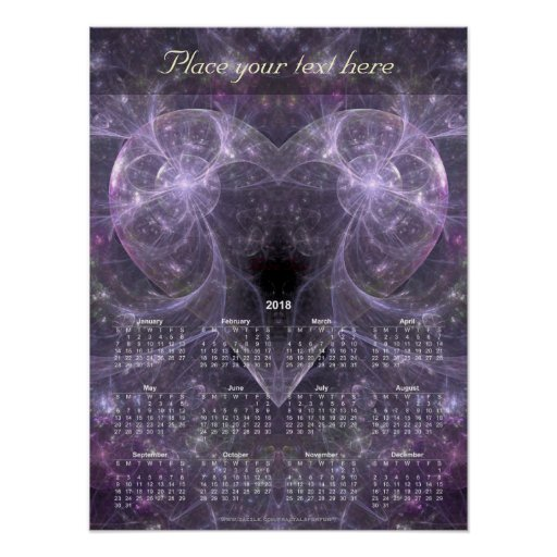 Energy of Love - Calendar 2018 Poster
