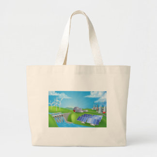 energy; power; dam; hydro; plant; renewable; solar large tote bag