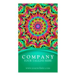 Energy Rainbow flower Mandala - green Pack Of Standard Business Cards