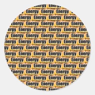 Energy Round Sticker
