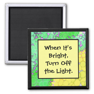 energy saving message square magnet