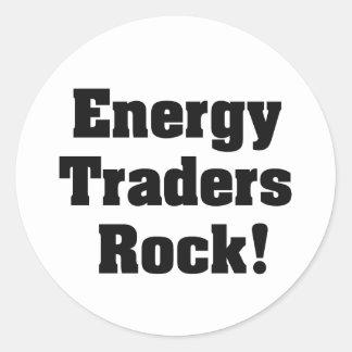 Energy Traders Rock! Round Sticker