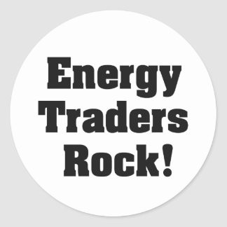 Energy Traders Rock! Classic Round Sticker